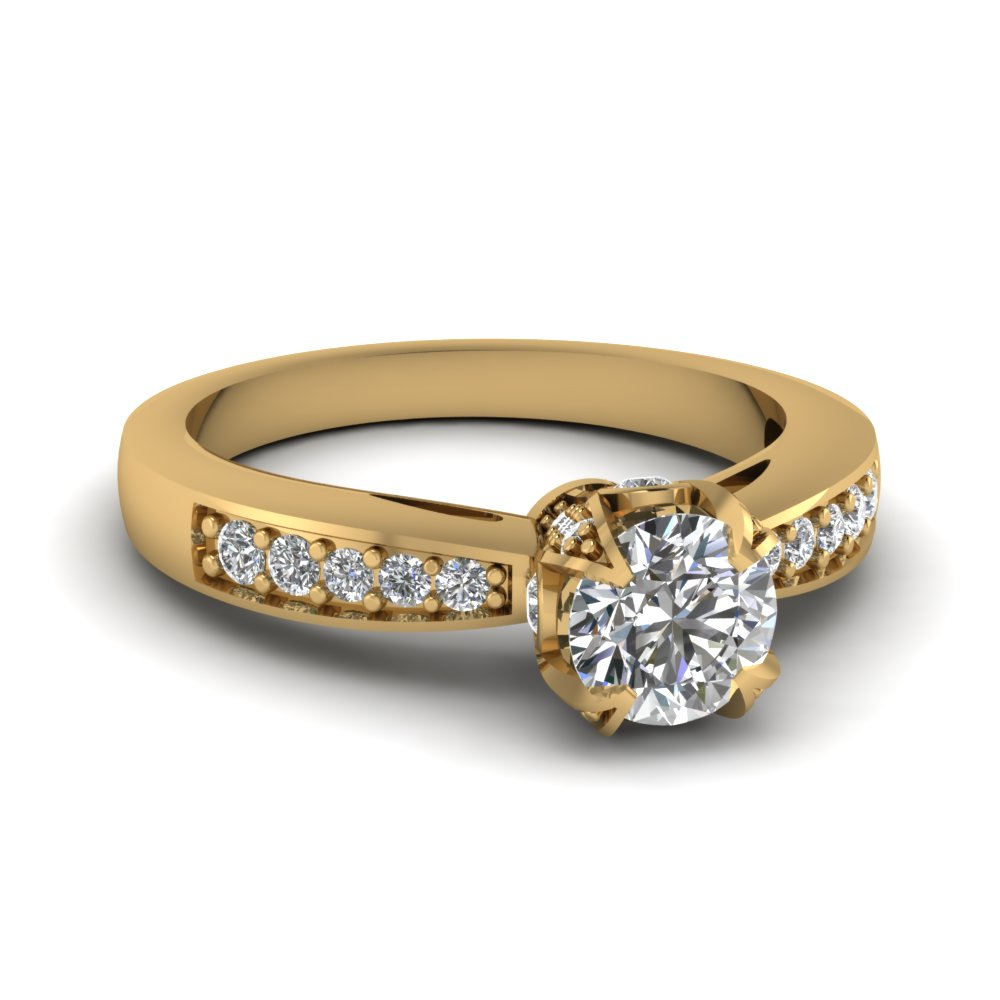 15 Latest Designs of Gold Diamond Rings for Him & Her