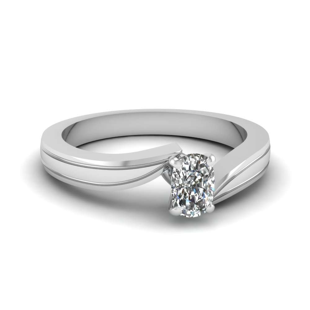 Simple white gold diamond rings