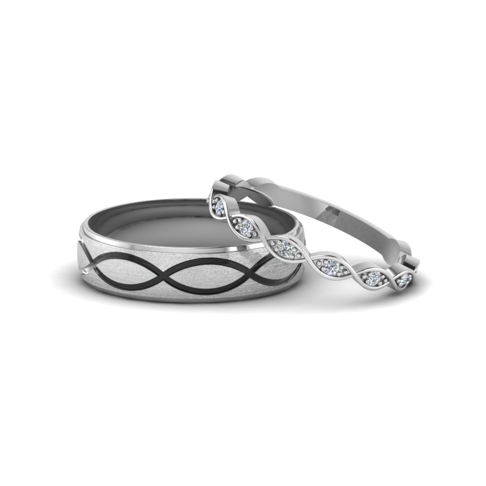 Infinity Wedding Band.Infinity Diamond Matching Wedding Band