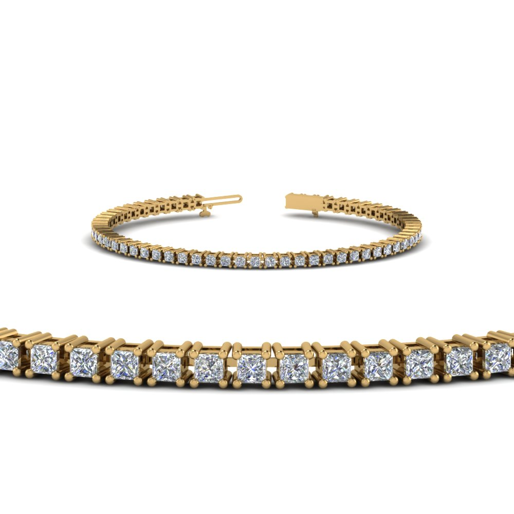 3 Ct Princess Diamond Bracelet
